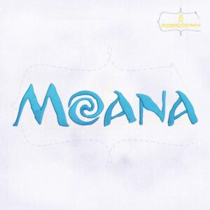 Beautifully Digitize Moana Logo Embroidery Design