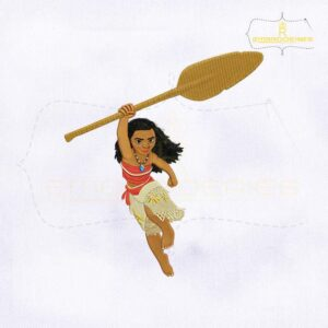 Princess Moana Render Embroidery Design