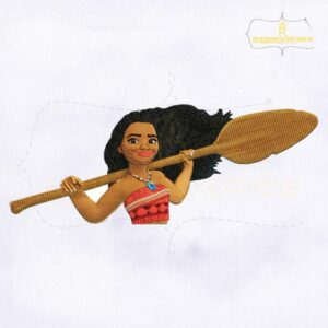 Disney Moana Render Embroidery Design