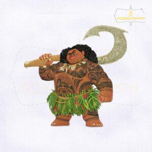 Disney Moana Maui Embroidery Design