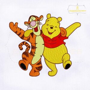 Winnie the Pooh and Tiger Embroidery Design