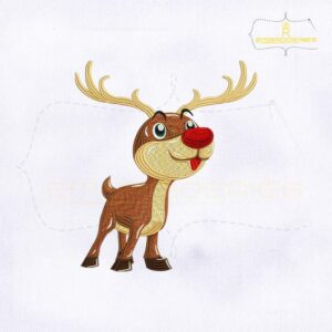 Christmas Rudolph Machine Embroidery Design