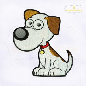 Cute Little Dog Machine Embroidery Design