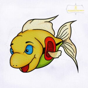 Colorful Fish Digital Embroidery Design