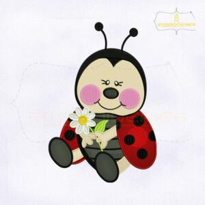 Beauteous Baby LadyBug Embroidery Design