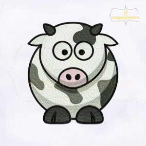 Dairy Cow Machine Embroidery Design