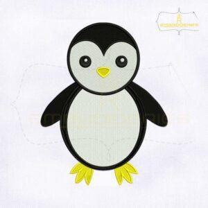 Cute Penguin Machine Embroidery Design