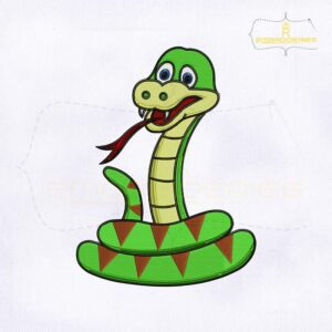 Jungle Snake Machine Embroidery Design