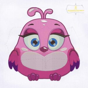 Cutest Pink Bird Machine Embroidery Design