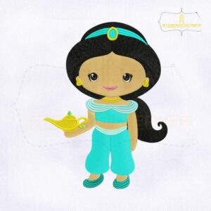 Baby Princess Jasmine Embroidery Design