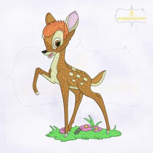 10164 Playful And Charming Bambi Machine Embroidery Design