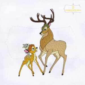 Great Prince & Bambi Embroidery Design