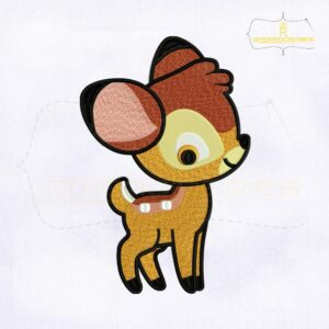 Adorable Little Prince Bambi Embroidery Design