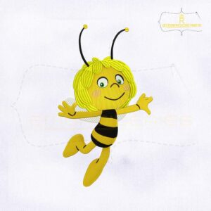 Flying Maya the Bee Embroidery Design