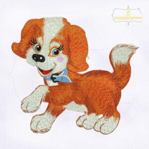 10187 Joyful Puppy Dog Machine Embroidery Design