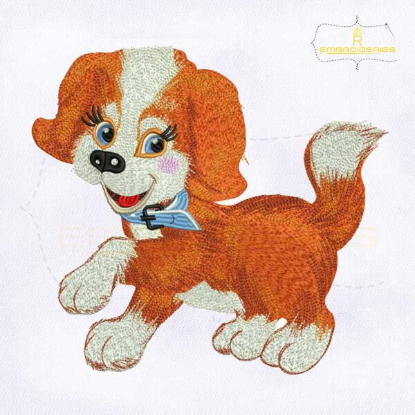 10187 Joyful Puppy Dog Machine Embroidery Design