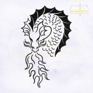 Stencils Dragon Machine Embroidery Design