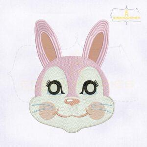 10203 Beautiful Rabbit Mask Machine Embroidery Design