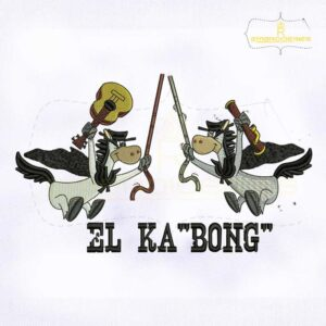 Quick Draw McGraw El KaBong Embroidery Design