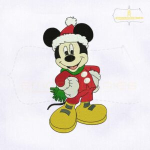 Christmas Cute Mickey Mouse Embroidery Design