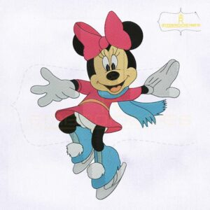 Cute Minnie Mouse Christmas Embroidery Design