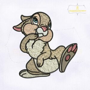 Miss Bunny Thumper Embroidery Design