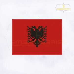 Albania Flag Machine Embroidery Design