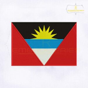 Antigua and Barbuda Flag Embroidery Design