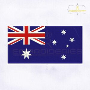Australia Flag Digital Embroidery Design