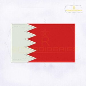 Bahrain Flag Machine Embroidery Design
