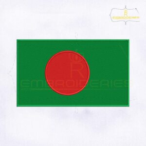 Bangladesh Flag Machine Embroidery Design