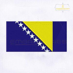 Bosnia and Herzegovina Flag Embroidery Design