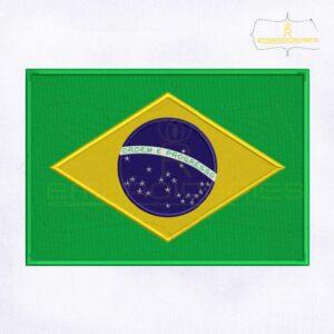 Brazil Flag Machine Embroidery Design