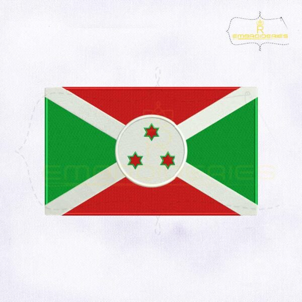 Burundi Flag Machine Embroidery Design