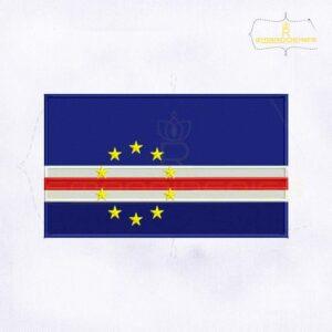 Cape Verde Flag Machine Embroidery Design