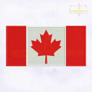 Canada Flag Machine Embroidery Design