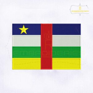 Central African Republic Flag Machine Embroidery Design