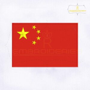 China Flag Machine Embroidery Design