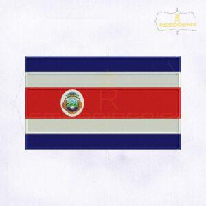 Costa Rica Flag Machine Embroidery Design