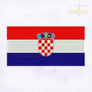 Croatia Flag Machine Embroidery Design