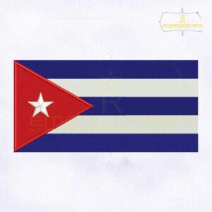 Cuba Flag Machine Embroidery Design