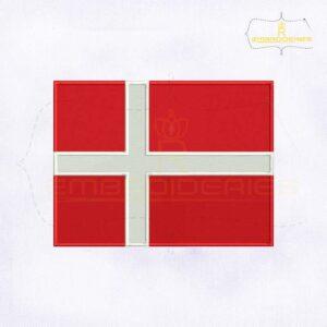 Denmark Flag Machine Embroidery Design