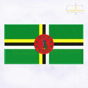 Dominica Flag Machine Embroidery Design