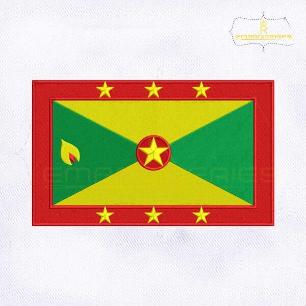 Grenada Flag Machine Embroidery Design