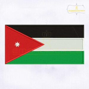 Jordan Flag Machine Embroidery Design
