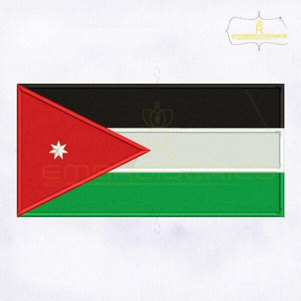 Jordan Flag Machine Embroidery Design