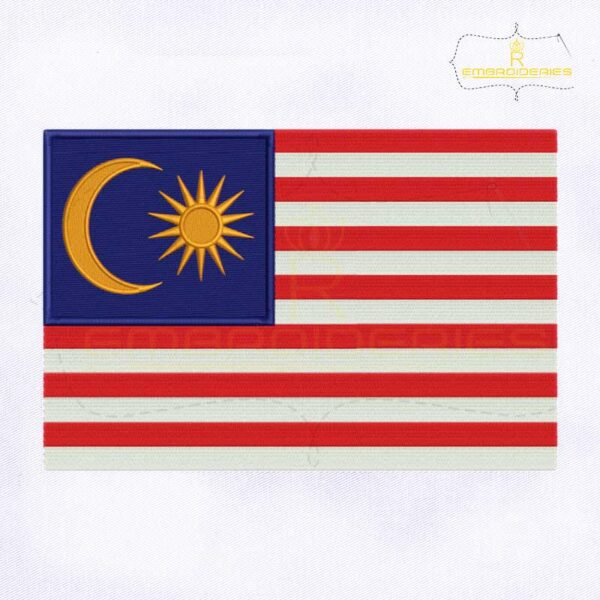 Malaysia Flag Machine Embroidery Design