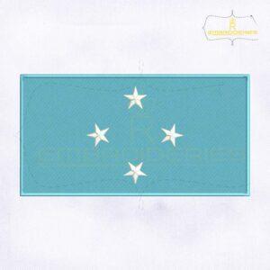 Micronesia Flag Machine Embroidery Design