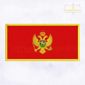 Montenegro Flag Machine Embroidery Design