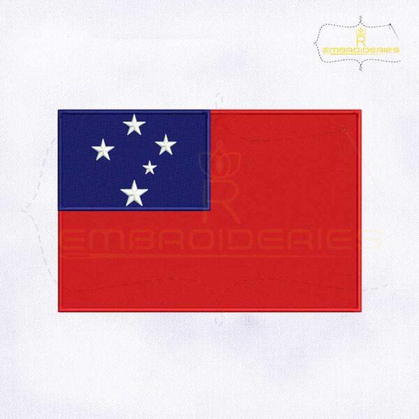 Samoa Flag Machine Embroidery Design